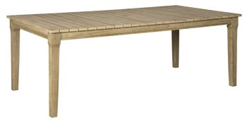 Clare View - Beige - RECT Dining Table w/UMB OPT