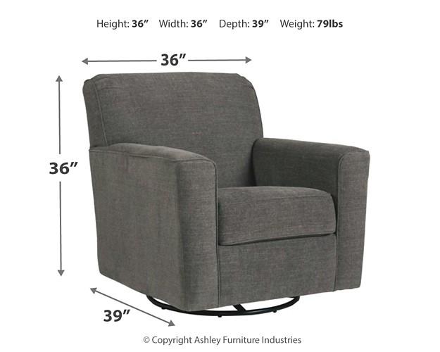 Alcona Linen Swivel Glider Accent Chair 9831042