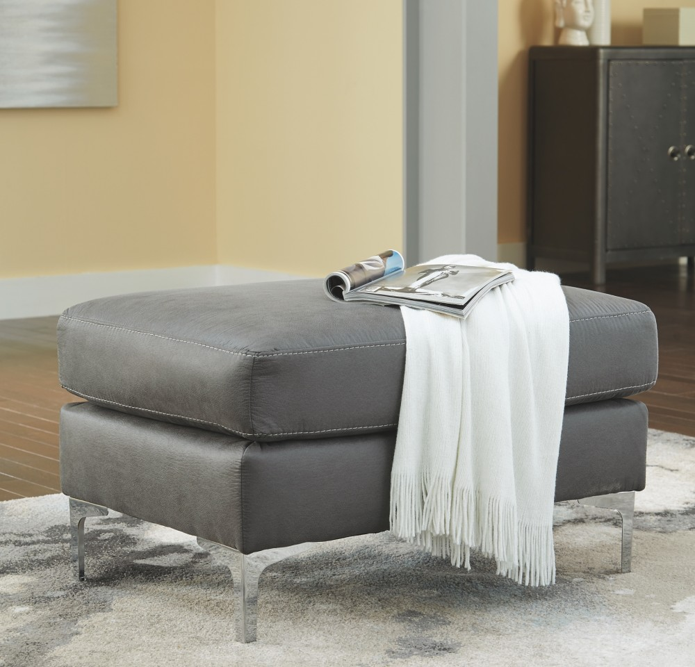 Magnificent Ryler Charcoal Ottoman Caraccident5 Cool Chair Designs And Ideas Caraccident5Info