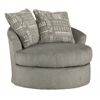 Soletren - Graphite - Swivel Accent Chair
