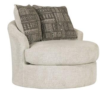 Soletren - Stone - Swivel Accent Chair