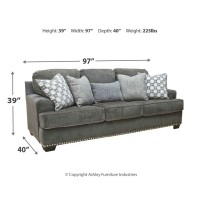 Locklin - Carbon - Queen Sofa Sleeper