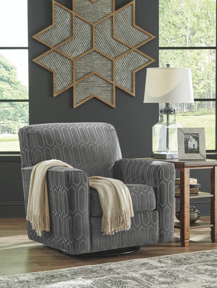 Zarina Fossil Swivel Accent Chair 9770442 Chairs