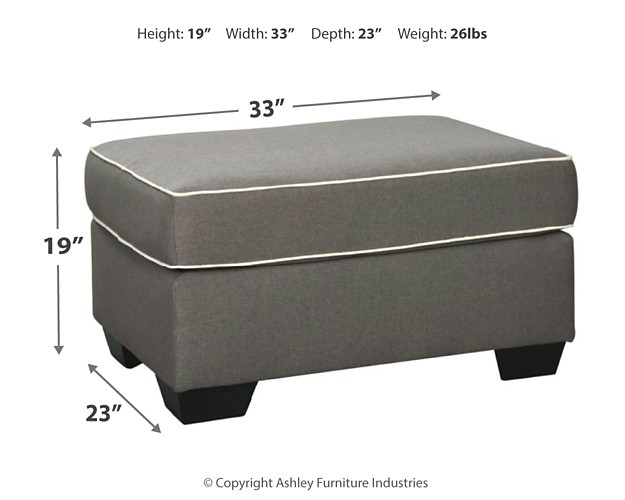 Fine Domani Charcoal Ottoman Caraccident5 Cool Chair Designs And Ideas Caraccident5Info