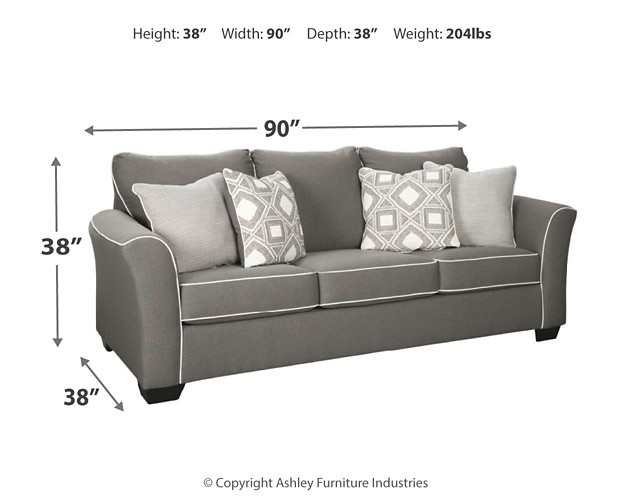 Peachy Domani Charcoal Queen Sofa Sleeper Gmtry Best Dining Table And Chair Ideas Images Gmtryco