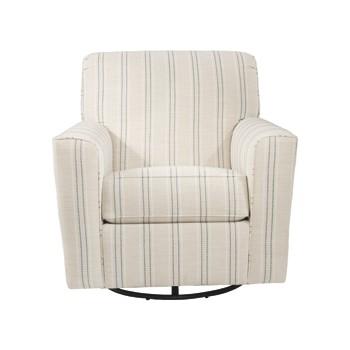 Alandari - Gray - Swivel Glider Accent Chair