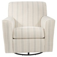 Alandari - Gray - Swivel Glider Accent Chair