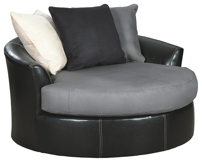 Prime Jacurso Charcoal Oversized Swivel Accent Chair Dailytribune Chair Design For Home Dailytribuneorg