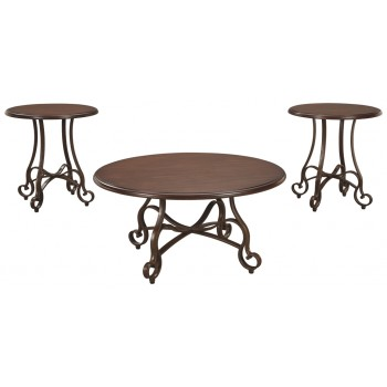 Carshaw - Brown - Occasional Table Set (3/CN)