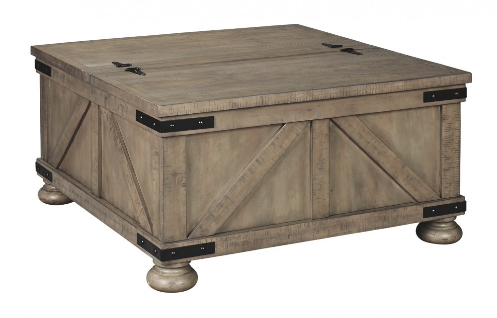 Gray Coffee Table With Storage 1