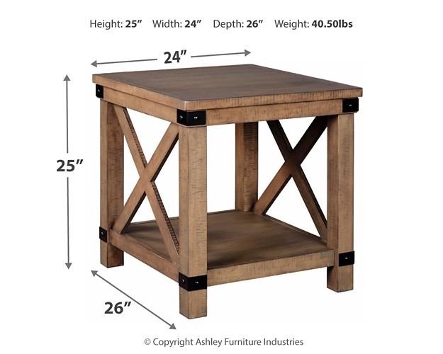 7ef9fc0e235f Aldwin - Gray - Rectangular End Table