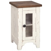 Wystfield - White/Brown - Chair Side End Table