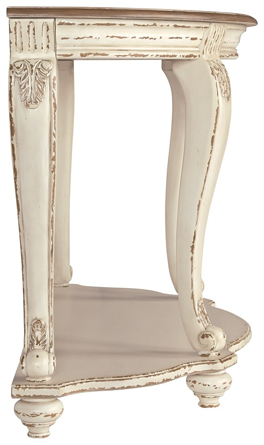 Peachy Realyn White Brown Sofa Table Creativecarmelina Interior Chair Design Creativecarmelinacom