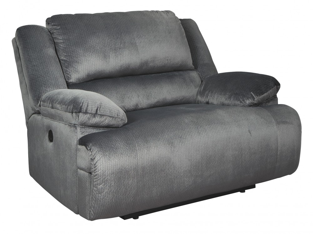 Clonmel - Charcoal - Zero Wall Wide Seat Recliner