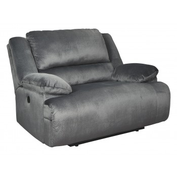 Clonmel - Charcoal - Zero Wall Power Wide Recliner