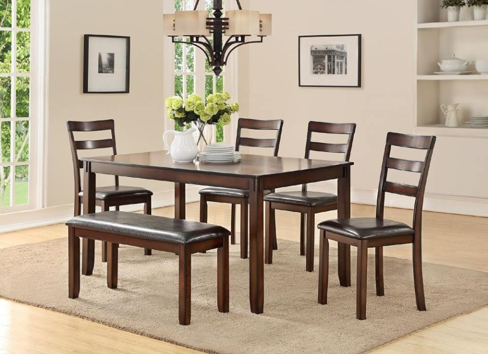 James 6 Piece Espresso Dining Set 7452f Dining Room Packages