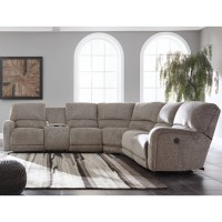 Pittsfield - Pittsfield 4-Piece Reclining Sectional with Power