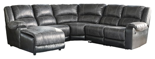 Nantahala - Nantahala 5-Piece Reclining Sectional with Chaise