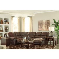 Nantahala - 5-Piece Reclining Sectional with Chaise