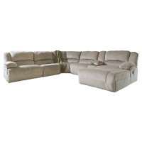 Toletta 6-Piece Sectional with Chaise and Power Recliner