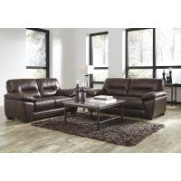 Mellen - Walnut - Sofa & Loveseat