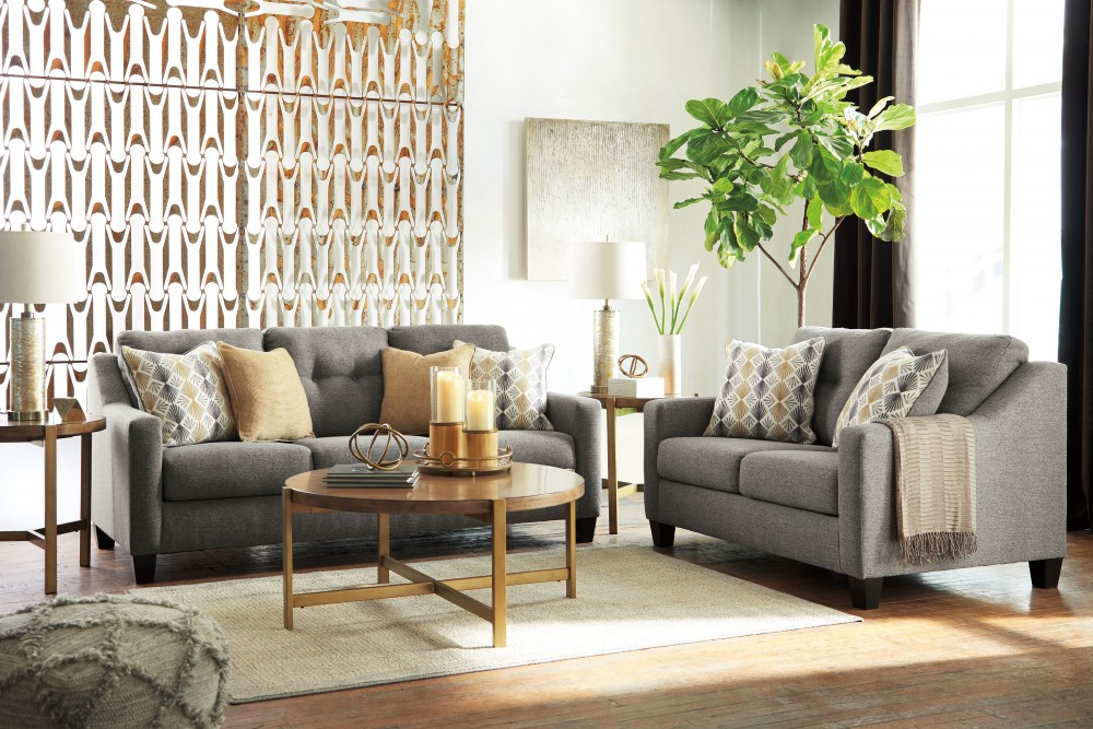 Daylon - Graphite - Sofa & Loveseat