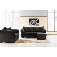 Darcy - Black - Sofa Chaise & Loveseat