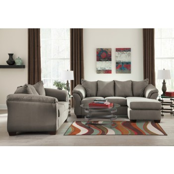 Darcy - Cobblestone - Sofa Chaise & Loveseat