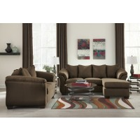 Darcy - Cafe - Sofa Chaise & Loveseat