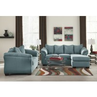 Darcy - Sky - Sofa Chaise & Loveseat