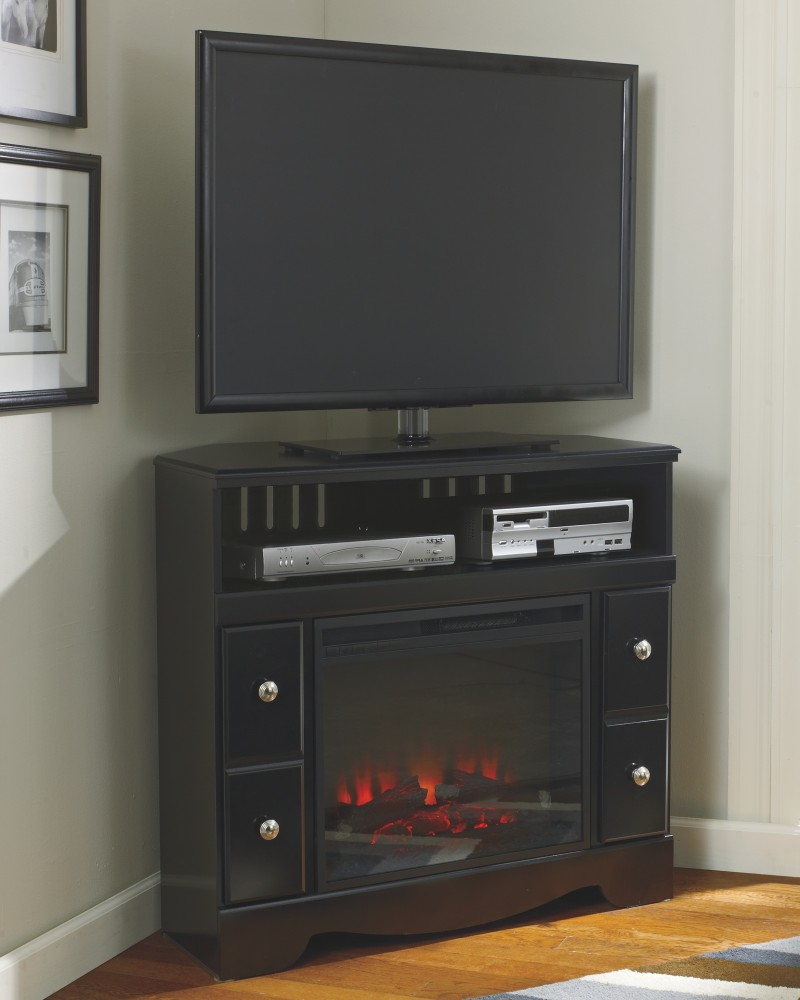 Shay Corner TV stand with Fireplace