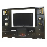 Shay 5-Piece Entertainment Wall Unit  with Fireplace