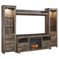 Trinell - 4-Piece Entertainment Center with Fireplace
