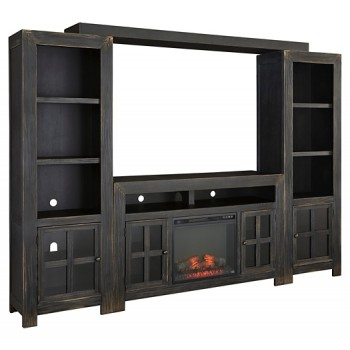 Gavelston 4-Piece Entertainment Center with Fireplace option