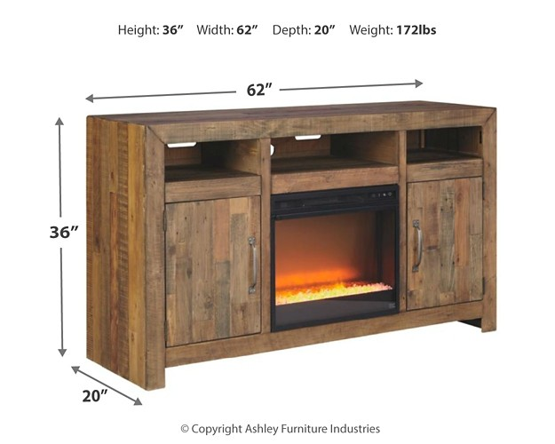 Sommerford 62 Quot Tv Stand With Electric Fireplace W775w1