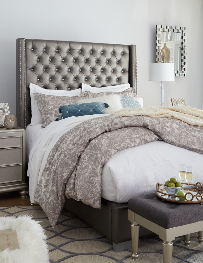 Complete Bedroom Furniture Sets: Coralayne Queen Upholstered Bed
