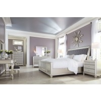 Coralayne King Upholstered Sleigh Bed