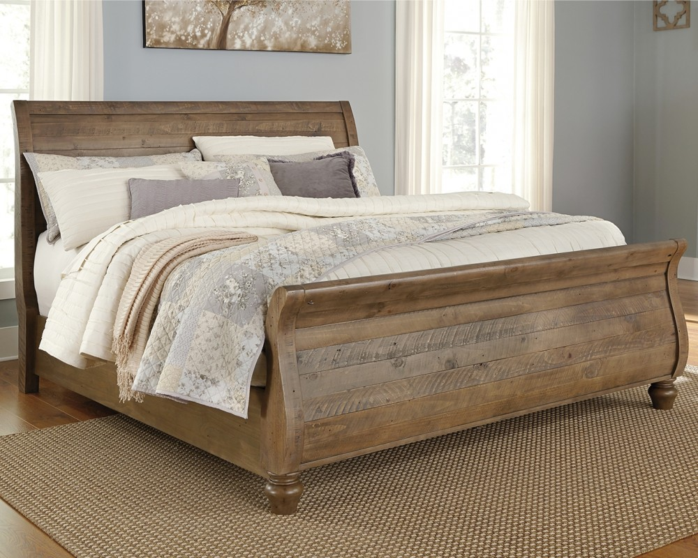 - Trishley King Sleigh Bed B659B6-76-78-99 Complete Beds Open