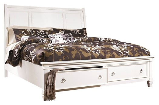 Prentice - King Sleigh Bed with 2 Storage Drawers