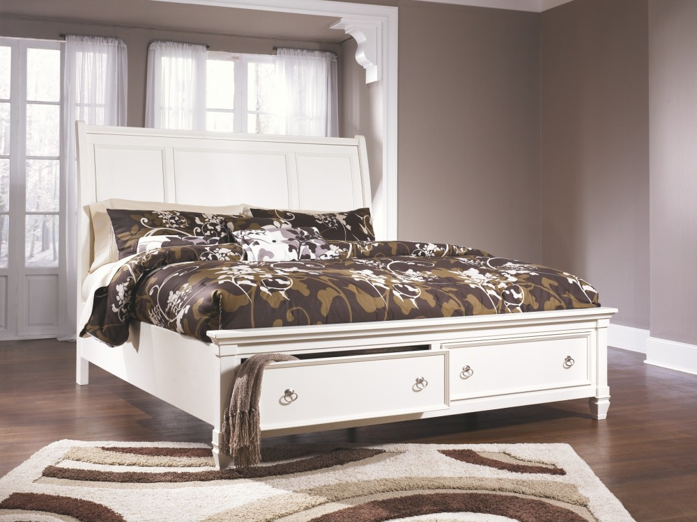 Prentice Cal King Sleigh Storage Bed