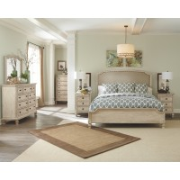Demarlos - California King Upholstered Panel Bed
