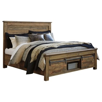 Sommerford - Queen Panel Bed with Storage