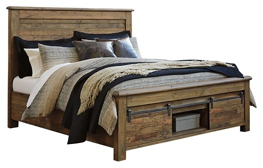Sommerford - King Panel Bed with Storage