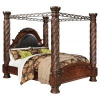North Shore - North Shore California King Poster Bed with Canopy