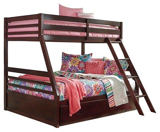 Halanton - Twin over Full Bunk Bed with 1 Large Storage Drawer