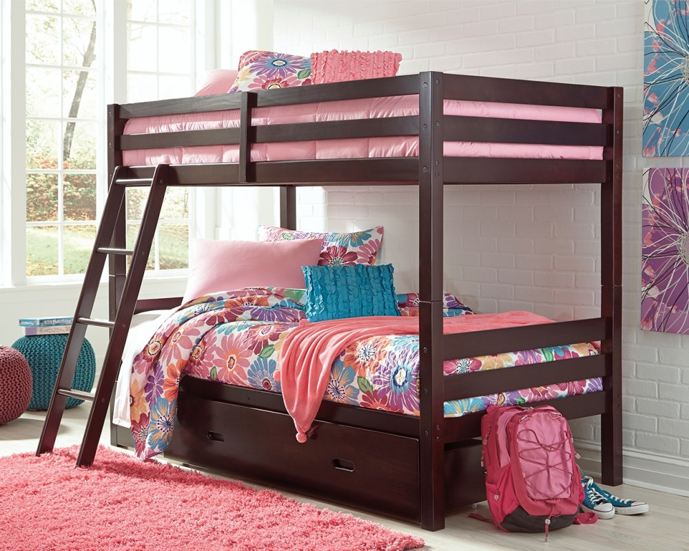 Halanton Halanton Twin Over Twin Bunk Bed With 1 Large Storage Drawer B328yb2 B32850 B32859