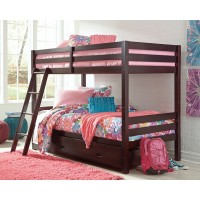 Halanton - Twin over Twin Bunk Bed with 1 Large Storage Drawer