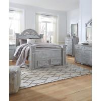 Zolena Queen Poster Bed with Storage