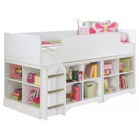 Lulu - Lulu Twin Loft Bed with 2 Bookcases