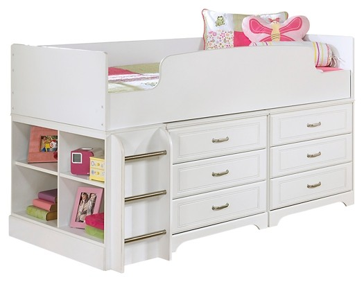 Lulu - Twin Loft Bed with 6 Drawer Storage